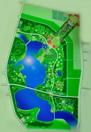 园博园规划总平面图