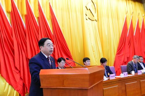 党委书记、院长王平教授致开幕辞-第一次党员代表大会在我院隆重召开