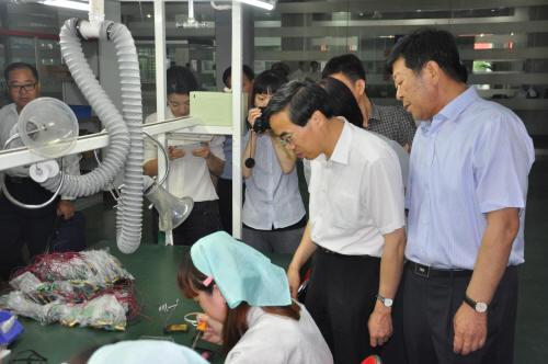 中国残联副理事长程凯 来津考察调研残疾人就业见习...图片